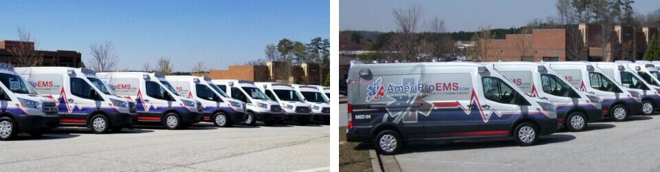 lineup of vans